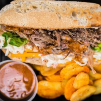 Pulled pork ciabatta